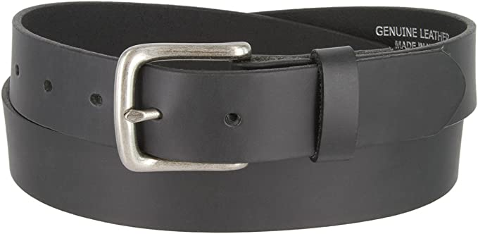 ANY SIZE Mens Black Genuine Leather Belt Handmade in USA Solid Thick one piece