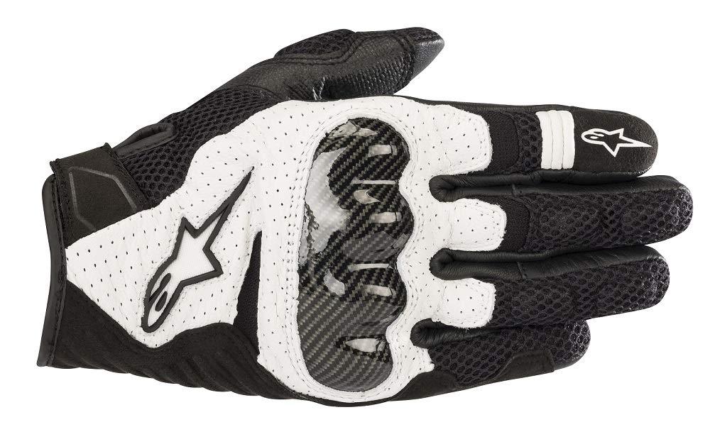 Alpinestars SMX-1 Air V2 Motorcycle Riding/Racing Glove (2X-Large, Black/White)