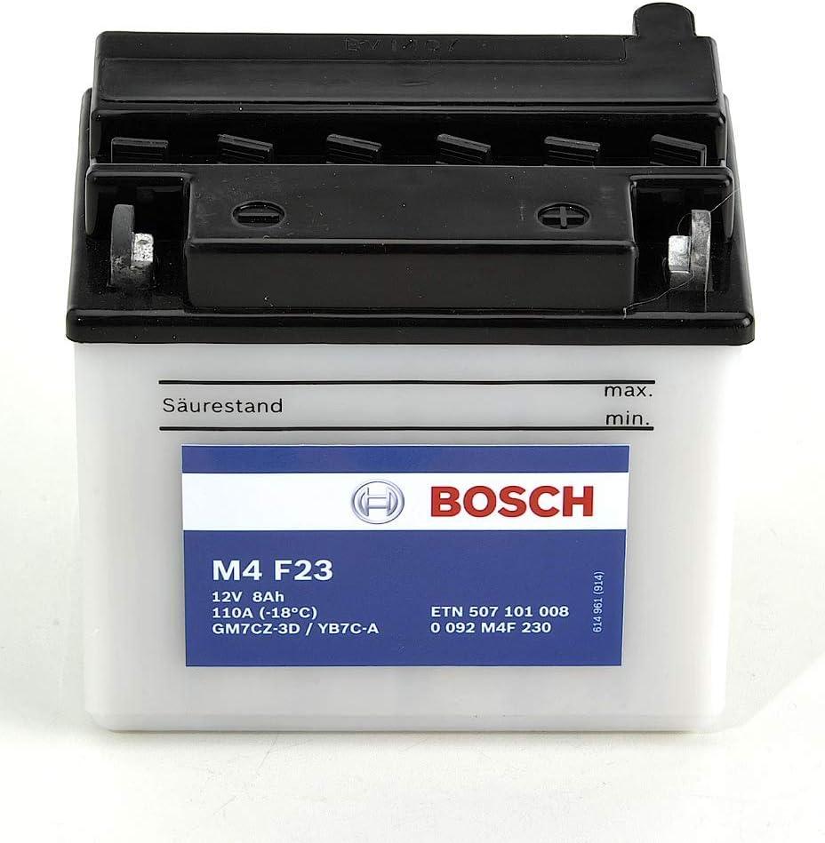 12V Plomo 7A//h-80A Bosch M4F23 Bater/ía motocicleta GM7CZ-3D YB7C-A
