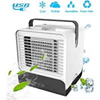 VOUM Personal Air Cooler Fan, Portable Air Conditioner, Humidifier, Box Fan,Purifier 3 in 1 Evaporative Cooler,Mini AC…