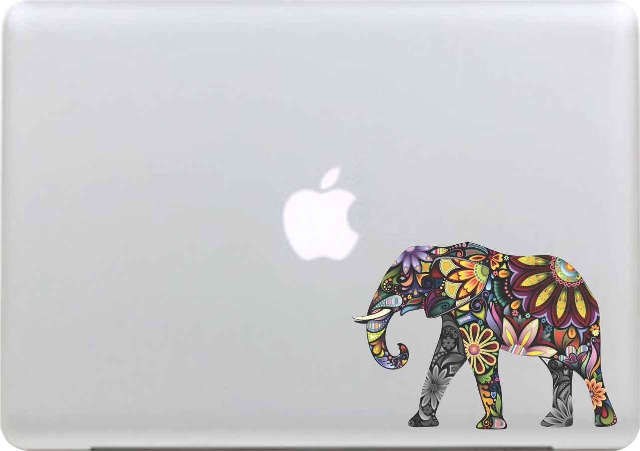 Sticker Adhesivos para Macbook Desprendibles Creativo Color Dibujos Animados Art Calcoman/ía Pegatina para MacBook Pro//Air 13 Pulgadas Port/átil Elefante de Color