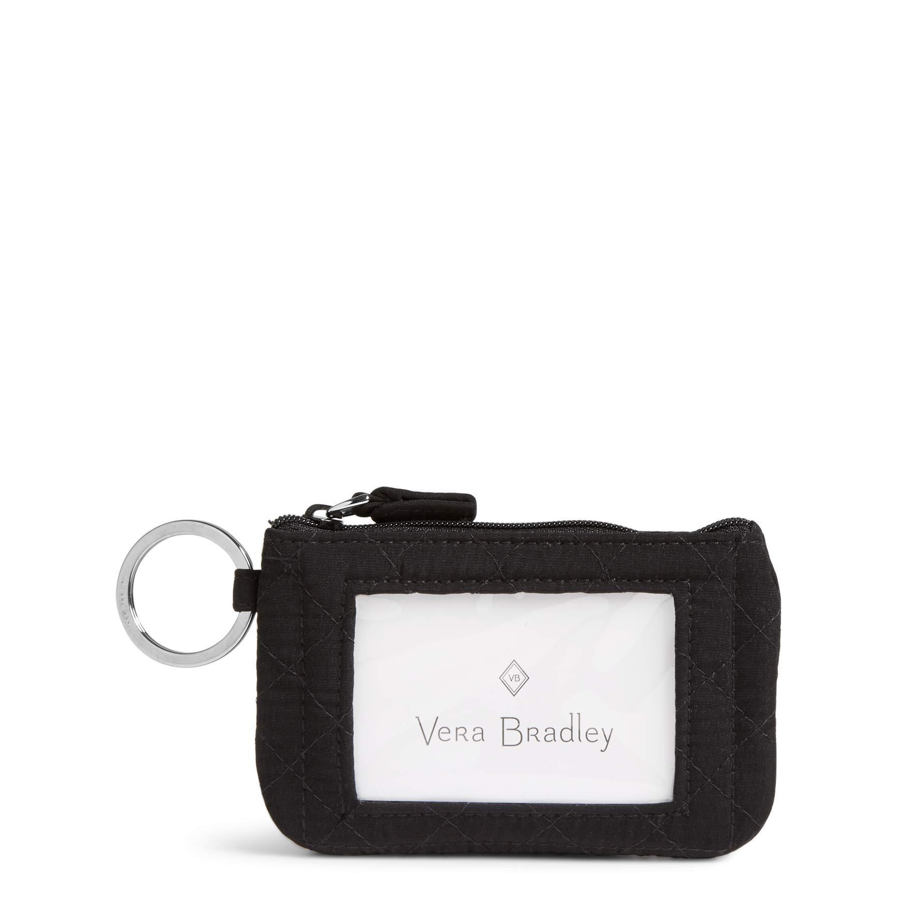 Vera Bradley Women's Iconic Zip Id Case Vv, Classic Black by Vera Bradley