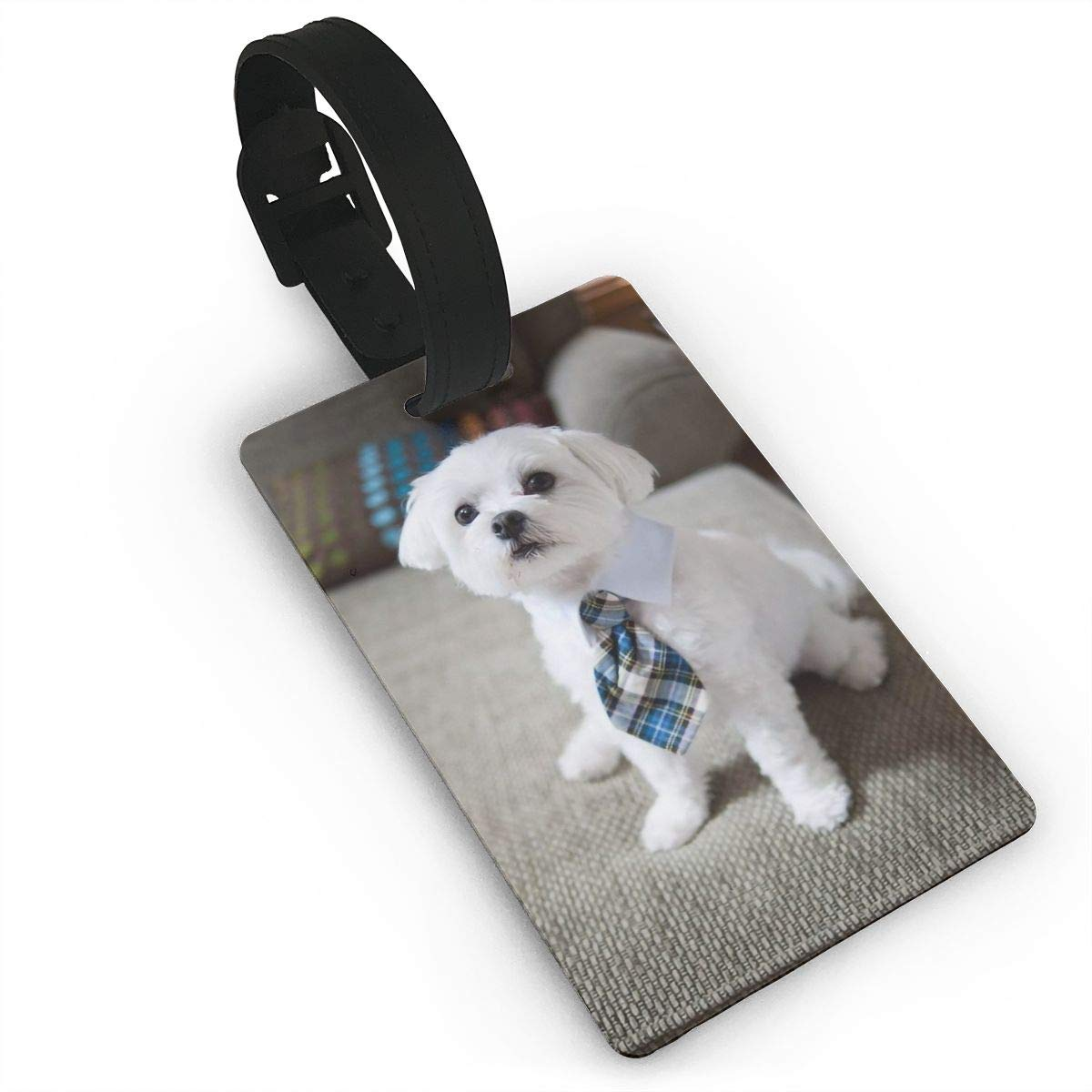 Bichon Frise Travel Tags For Travel Bag Suitcase Accessories 2 Pack Luggage Tags
