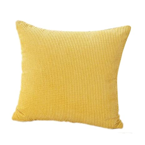 Xinantime Fundas De Cojines, Almohada Decorativa de la Pana de algodón Cojín Multicolor (Amarillo)