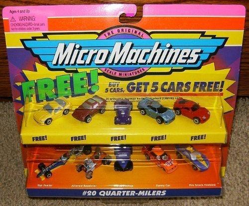 Micro Machines Quarter Milers #20 Collection w/5 Bonus Cars