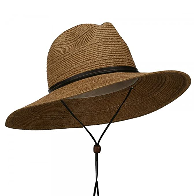 2acc56a0748 Jeanne Simmons Men s UPF 50+ Wide Brim Safari Hat at Amazon Men s Clothing  store