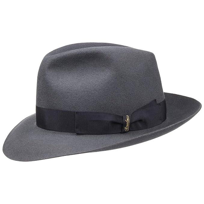 Borsalino Sombrero Fedora 50 Gramos by Sombreros de fieltrosombrero Hombre  (62 cm - Gris) e1f667b55d1