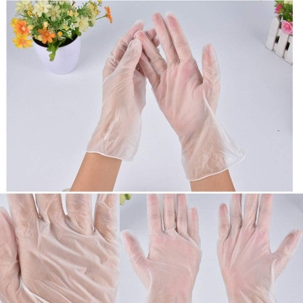 F/ür Den Medizinischen Schutz In Der K/üche L, Transparent Hohe Durchsto/ßfestigkeit Sannysis 100 St/ück Einweghandschuhe Nitril Einmalschutzhandschuhe wasserdichte Medizinische Handschuhe