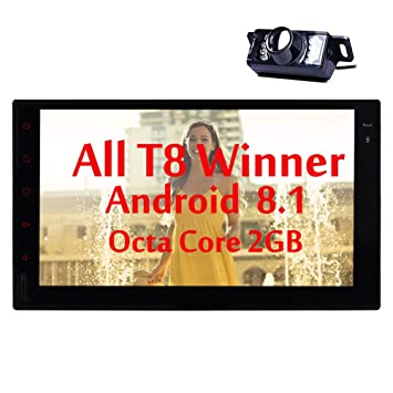 Navegación GPS EinCar Android 8.1 estéreo radio de coche Octa Core 2 GB de RAM +