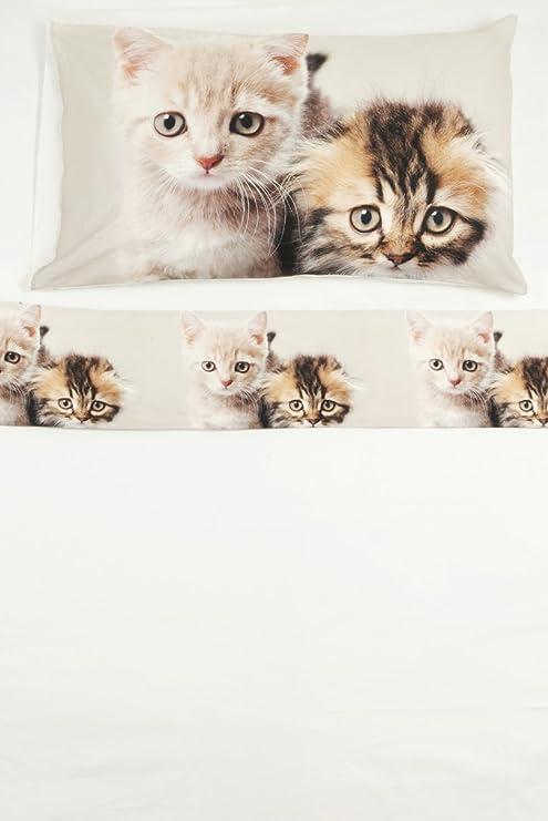 Juego de sábanas, 100% de algodón, para cama individual