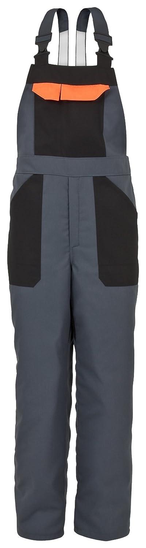 Schnittschutz-Latzhose EVO Men's KWF Chainsaw Bib Dungarees Trousers Grey-Orange S