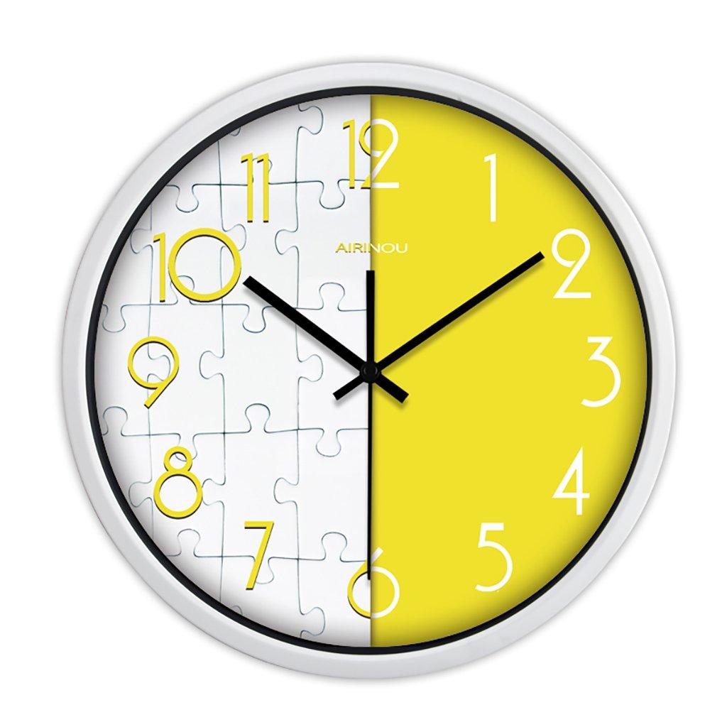 現代のクリエイティブファッション絵画ジグソーパズル広いリビングルームウォールクロックシンプルな円形のクォーツ時計 (色 : 2, サイズ さいず : 12in) B07FVVSYDM 12in|2 2 12in