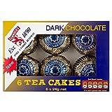 Tunnock's Tea Cakes Dark Chocolate 6 x 24g - Pack of 6