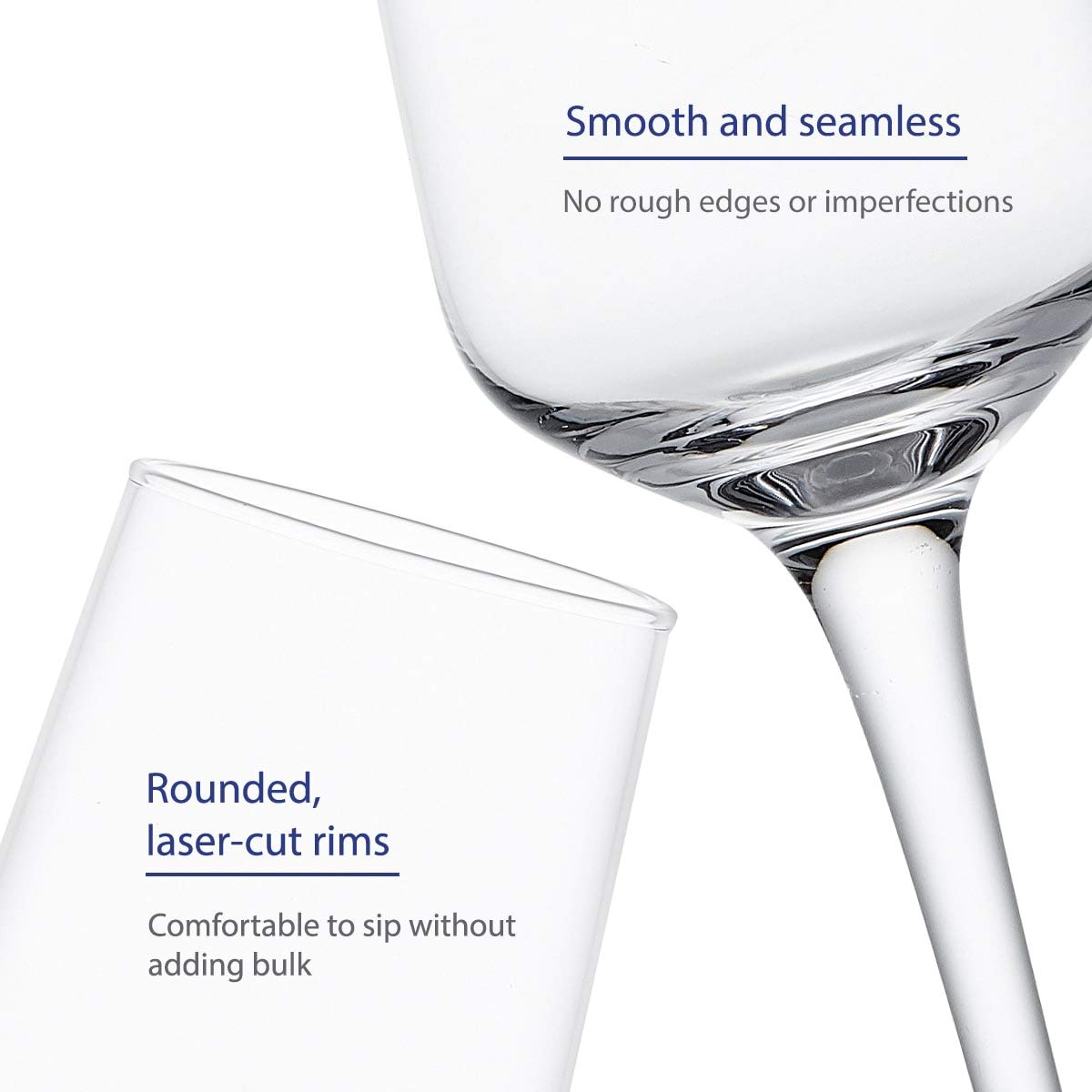 GoodGlassware Champagne Flutes (Set Of 4) 8.5 oz - Crystal Clear Clarity, Classic and Seamless Tower Design - Lead Free Glass, Dishwasher Safe, Quality Sparkling Wine Stemware Set by Vintorio (Image #3)