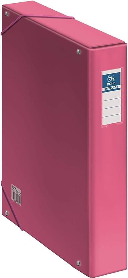Dohe - Caja de proyectos - Lomo 5 cm - Rosa: Amazon.es: Oficina y ...