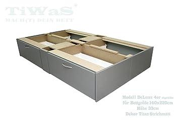 Schubladensockel DeLuxe für Wasserbett Sockel / Unterbau / Podest ...