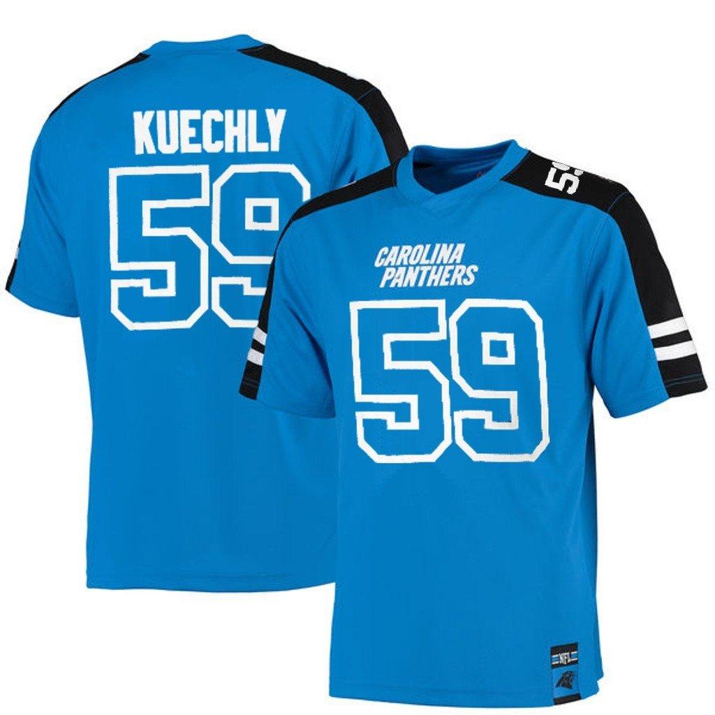 Luke Kuechly Carolina Panthers NFL Mens Majestic Hashmarkジャージーブルービッグトールサイズ 5XL  B06XHQN45W