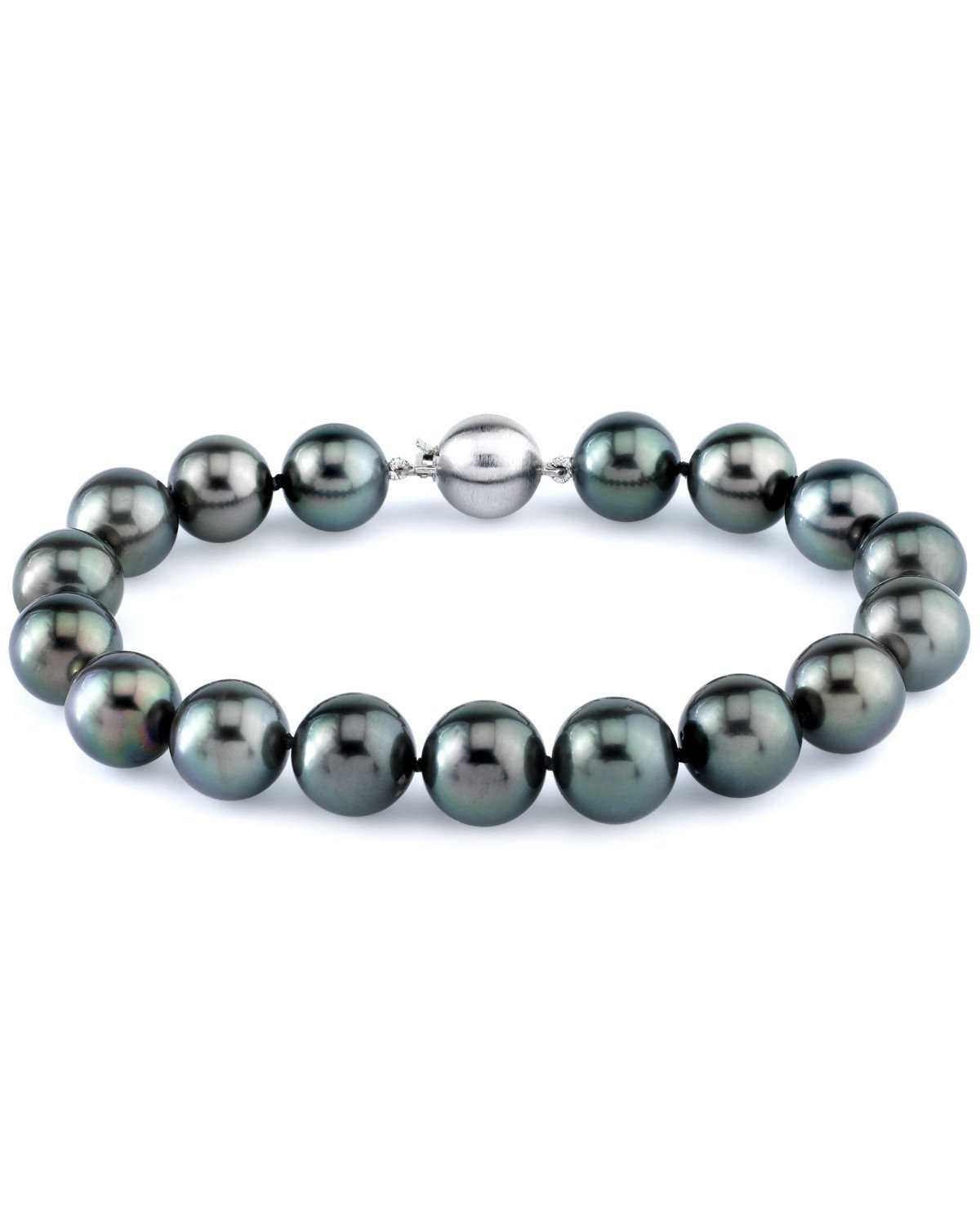 14K Gold 10-11mm Tahitian South Sea Cultured Pearl Bracelet by The Pearl Source