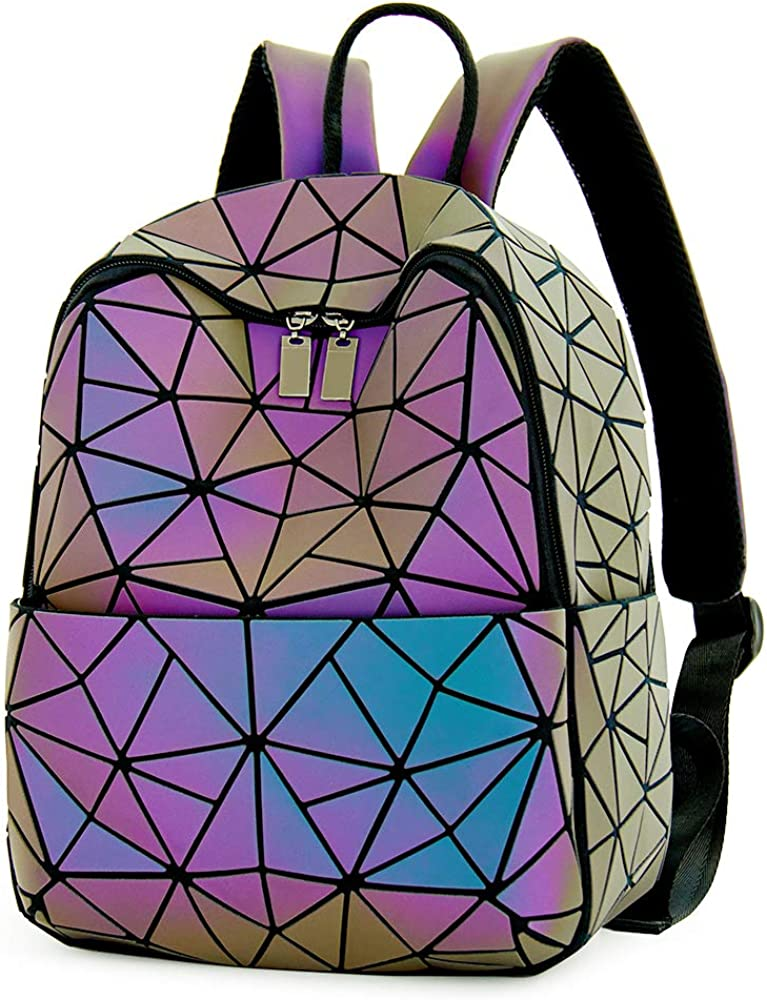 Luminous Geometric Purses and Handbags Women Tote Bag Holographich Flash Reflactive Crossbody Bag Backpacks