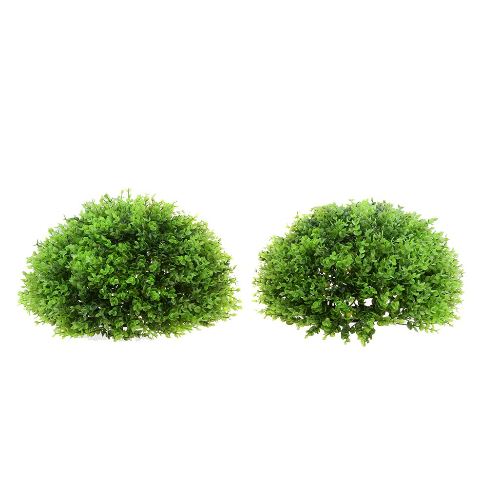 Fityle Artificial Topiary Ball - 15'' Artificial Christmas Topiary Plant - Indoor/Outdoor Decorative Light Plant Ball - Party and Holiday Decor - Green