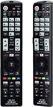Alkia LG-1LC - Mando a distancia universal luminoso para LG TV /LEARN/HDTV/3D/LCD/LED, funciona con todas las televisores LG (LED, LCD, plasma): Amazon.es: Electrónica