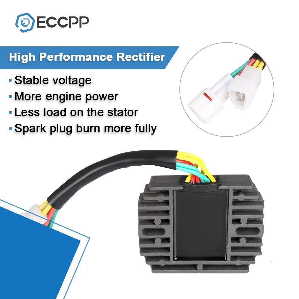 ECCPP Voltage Regulator Rectifier Fit for 2005-2008 Suzuki C50 Boulevard 2005-2008 Suzuki C50B Boulevard 2006-2008 Suzuki C50C Boulevard 2005-2008 Suzuki C50T Boulevard