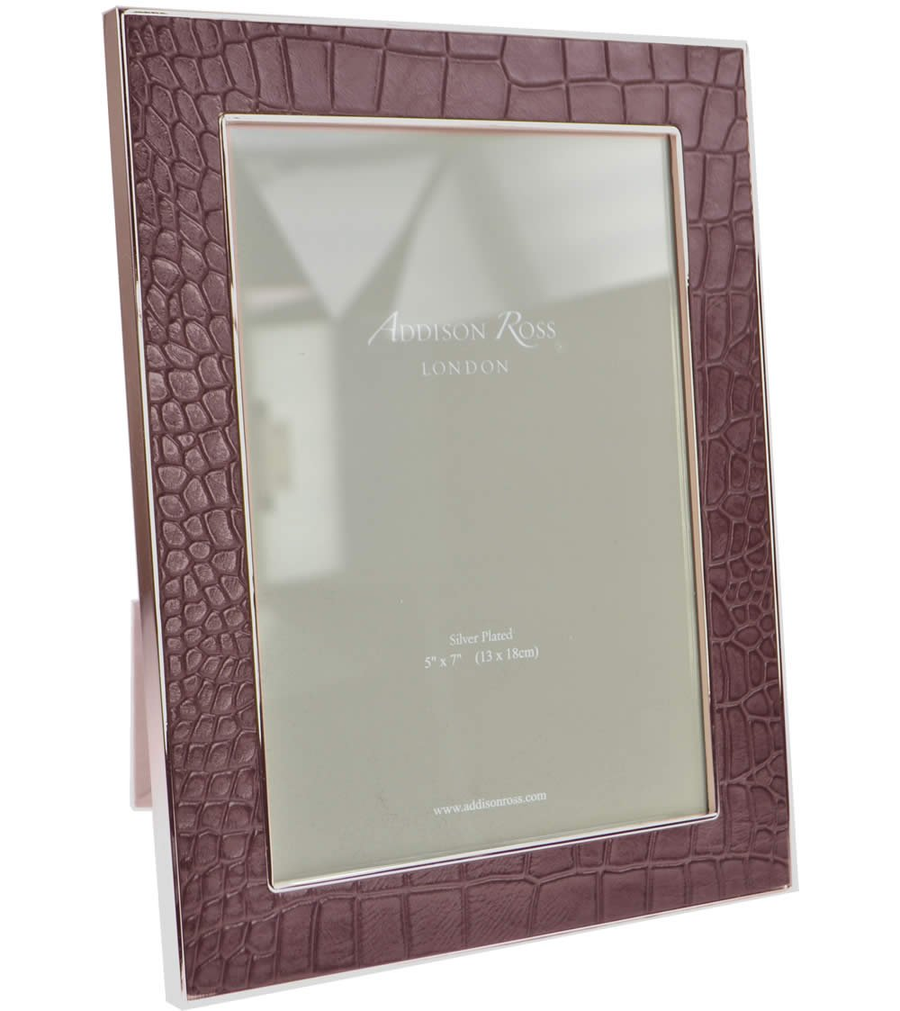 Addison Ross Bilderrahmen 5 x 7 Faux Krokodil 24 mm – Schokolade ...