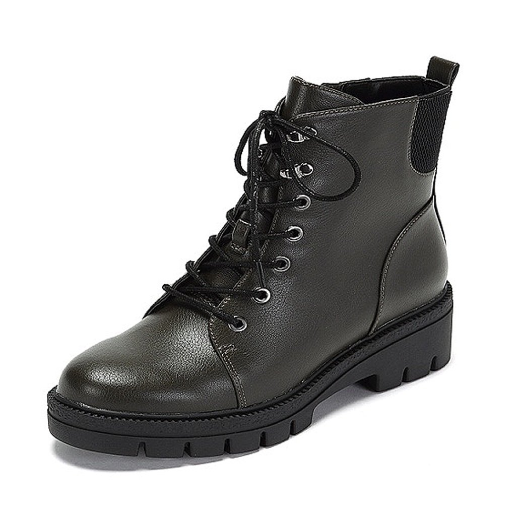 Women 's Martin boots winter thick soled shoes personality fashion short boots ( Color : Green , Size : US:7UK:6EUR:39 )