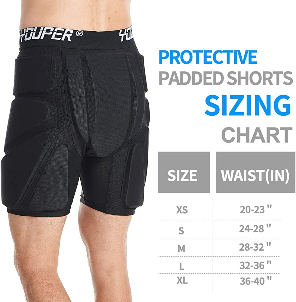 Hip /& Tailbone 3D Protection for Butt Youper Protective Padded Shorts for Ski Skate /& Roller Sports Snowboard