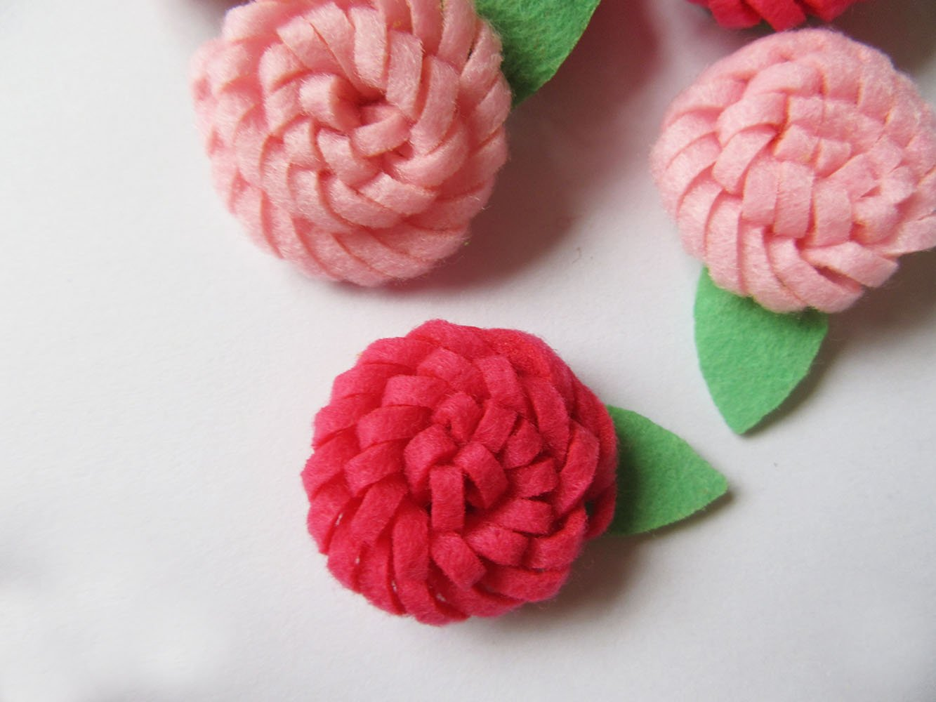 Yycraft pacco da pezzi feltro rosa cm d applique fiore
