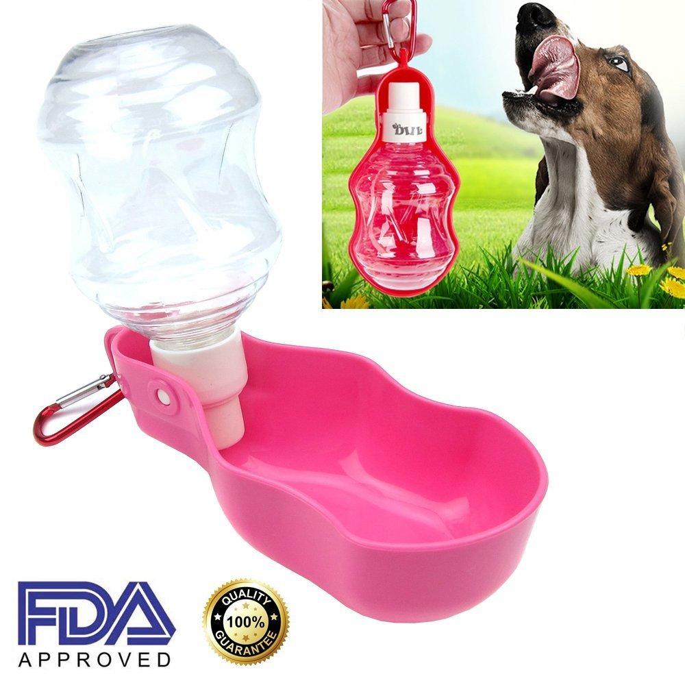 AUBEBE Hund Wasser Flaschen Pet Wasserspender Tragbarer Reise Outdoor Feed Trinkflasche Set für Hunde Katzen Tiere