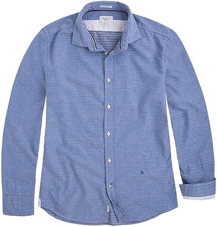 Pepe Jeans Camisa Owen Azul Hombre M Azul: Amazon.es: Ropa y accesorios