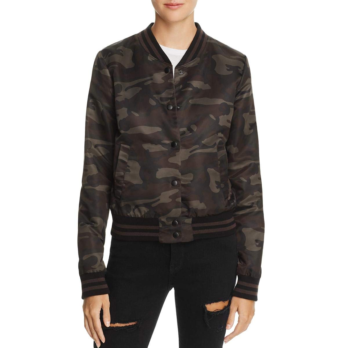 Camo Jungle Bailey 44 Womens Fall Camo Bomber Jacket