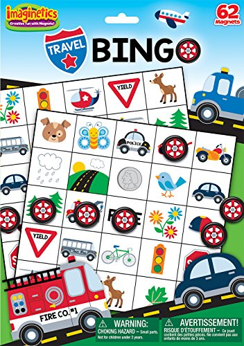 Imaginetics Travel Bingo Game - Includes 62 Magnets ()