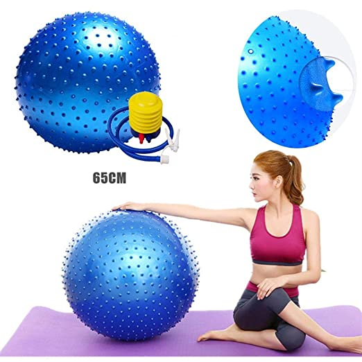 WanNing Pelota De Fitness (Azul) De 65 Cm, Anti-explosión Y Extra ...
