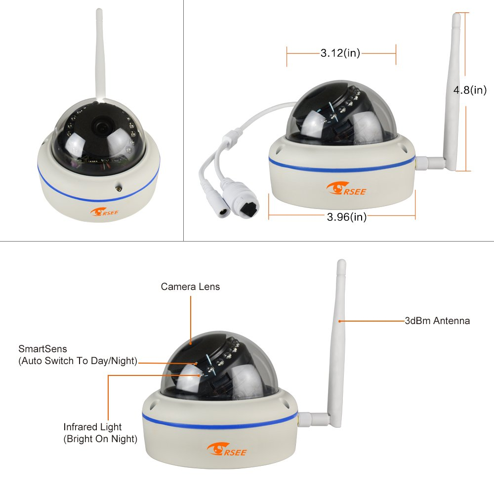 CORSEE Wireless IP Camera,960P HD Weatherproof Dome Camera (This Camera Must Match The CORSEE Wireless Surveillance Kit to Work) by corsee (Image #3)