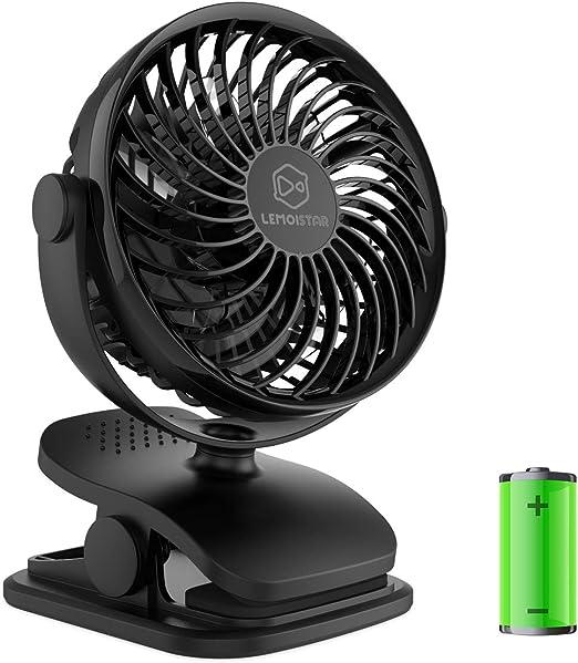 Mini Ventilador de Escritorio USB Velocidad de Viento Ajustable de bajo Ruido Que oscila para el hogar la Oficina bater/ía de Ventilador de Mesa Recargable