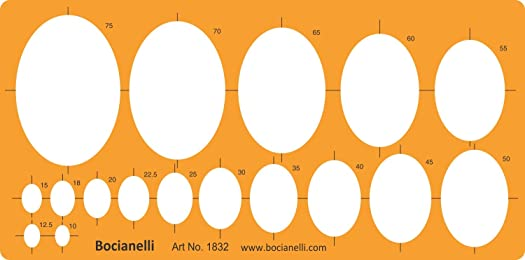 Large Ellipse Ellipses Shapes Figure Symbols Drafting Drawing Template Stencil