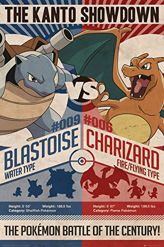 Pokemon - Gaming / TV Show Poster / Print The Kanto Showdown - Red Vs. Blue By Stop Online