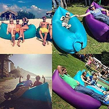 STOGA Outdoor Inflatable Couch Camping Furniture Sleeping Compression Air Bag Lounger Hangout Inflatable Sleeping Bag Blue Color