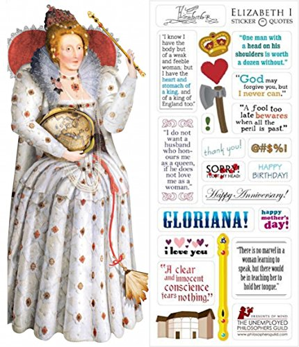 (Queen Elizabeth I Quotable Notable - Die Cut Silhouette Greeting Card and Sticker Sheet )