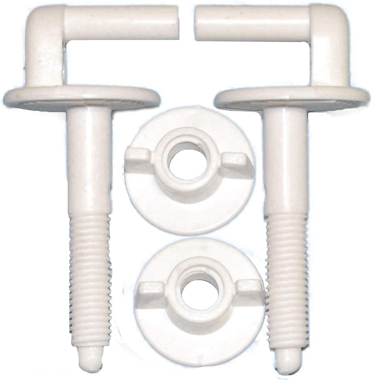 2/Abattant de WC 8,5/cm L Forme charni/ères en plastique A5/Lot de bain de Salle de Bain Kit de r/éparation DIY