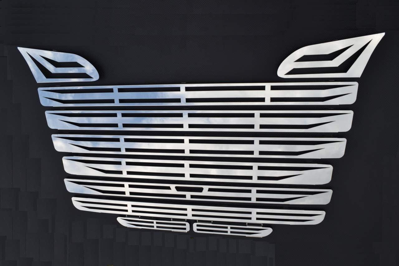 ESK 10 D/écorations en Acier Inoxydable Poli Miroir Scania R 2004-09 Couvertures de Grille Avant Couvertures da/ération Avant