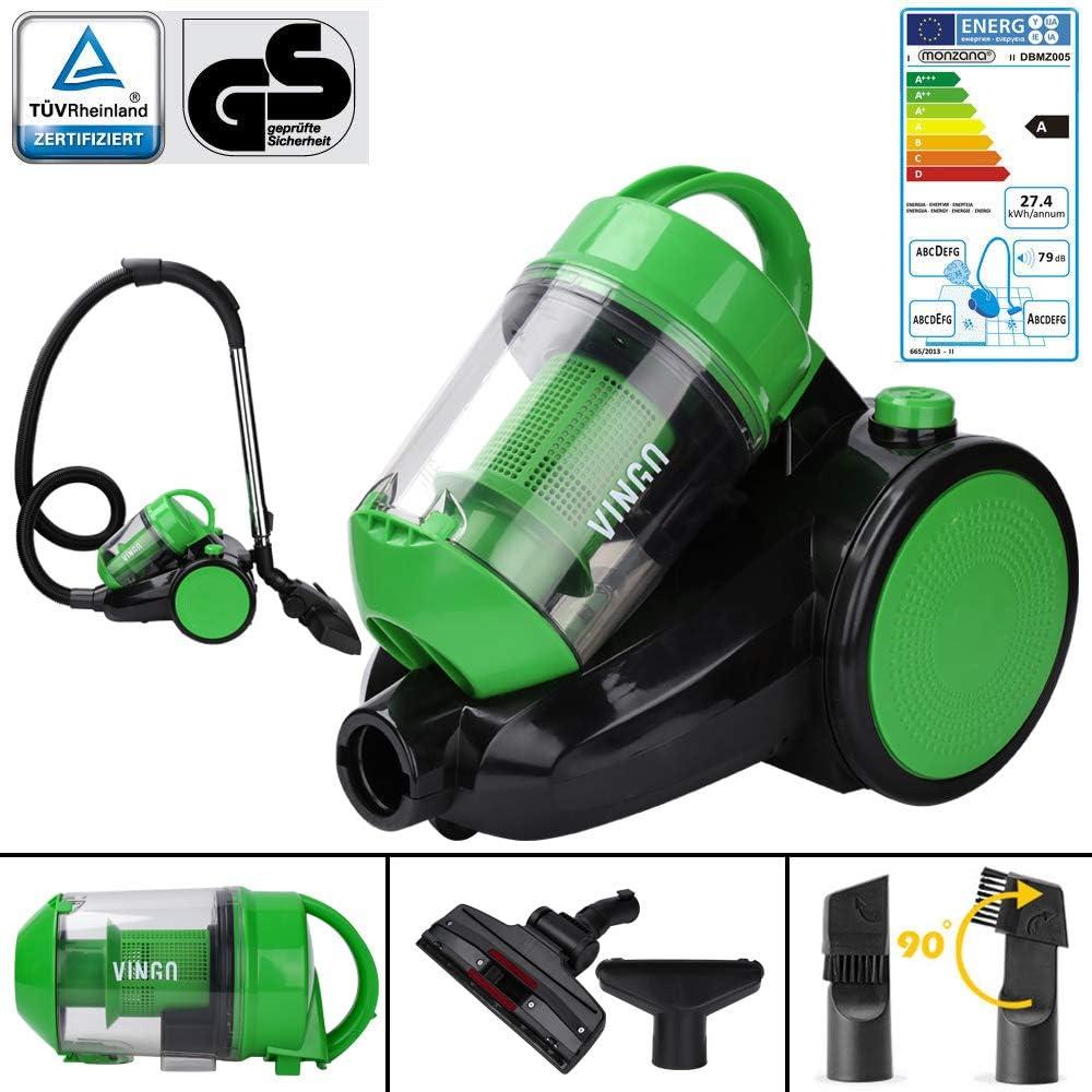 4.0L 900W Aspirador sin Bolsa, aspiradora ciclónica de motor de alta eficiencia , filtro de alto rendimiento (HEPA-12) , aspiradora bolsa de limpieza de clase A: Amazon.es: Hogar