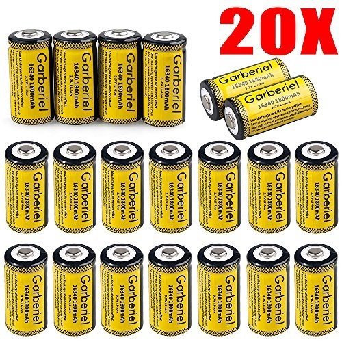 FlashDealer Lithium CR123A Battery Rechargeable Battery cell Battery For Flashlight