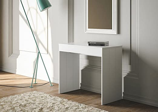 Group Design - Mesa consola extensible «Pratika», color blanco ...