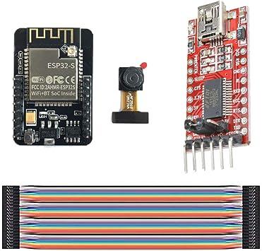 FTDI Adapter Esp32 cam Wifi Modul OV2640 Kamera Modul Jumper Wire