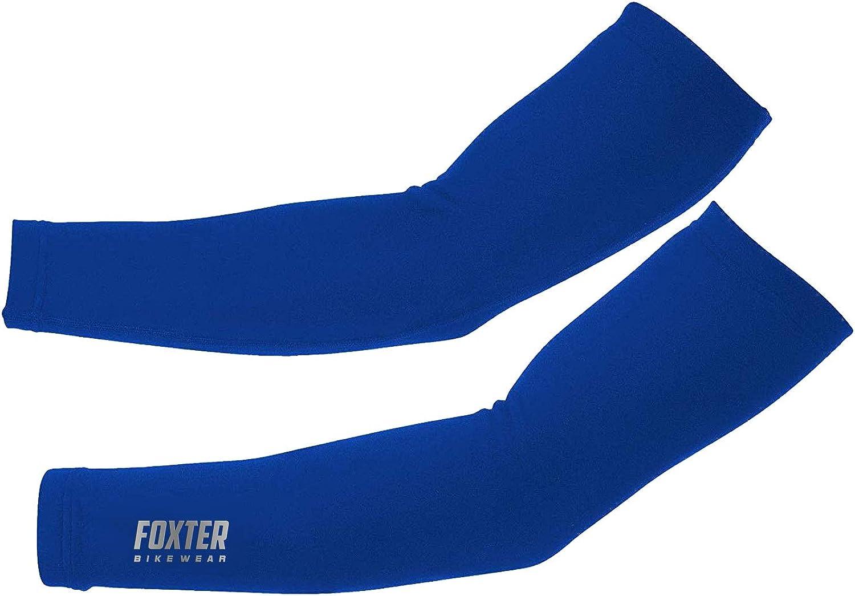 Foxter - Manguitos térmicos de forro polar para ciclismo, golf, béisbol, baloncesto