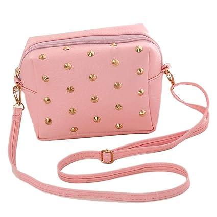 16a6fb62b6 Wekold Mini Handbag for Women and Girls Single with Ribatto
