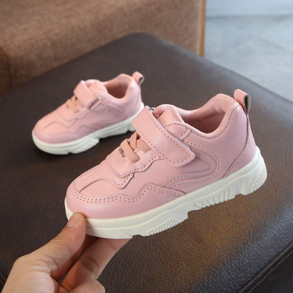 Suma-ma Toddler Babys Stitching Color Sports Shoes Children Boys Girl Casual Running Sneakers Non-Slip Loafers